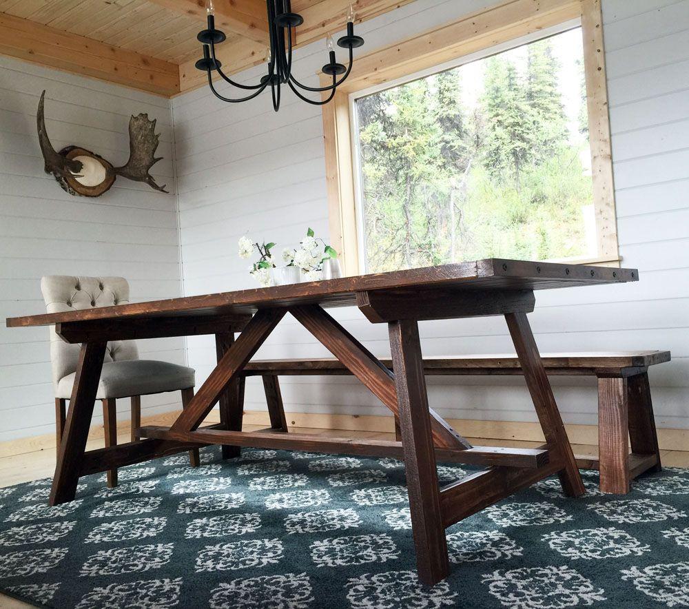 2X4 Truss Table For Alaska Lake Cabin Dinning Room Table 400 x 300