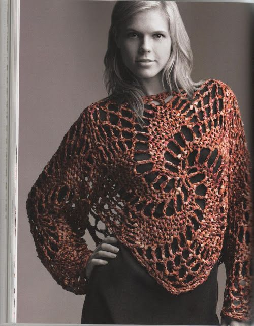 Crochet Blouse Pattern Crochet Wearables Pinterest Crochet