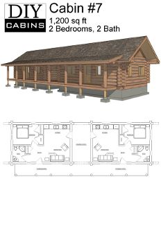 Cabin 7 Log Cabin Floor Plans Barn House Plans Cabin House Plans