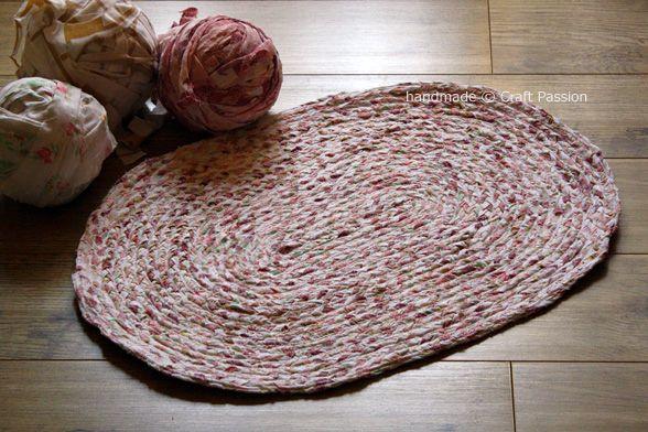 Riciclo il tessuto, ci faccio un tappeto #carpet #DIY