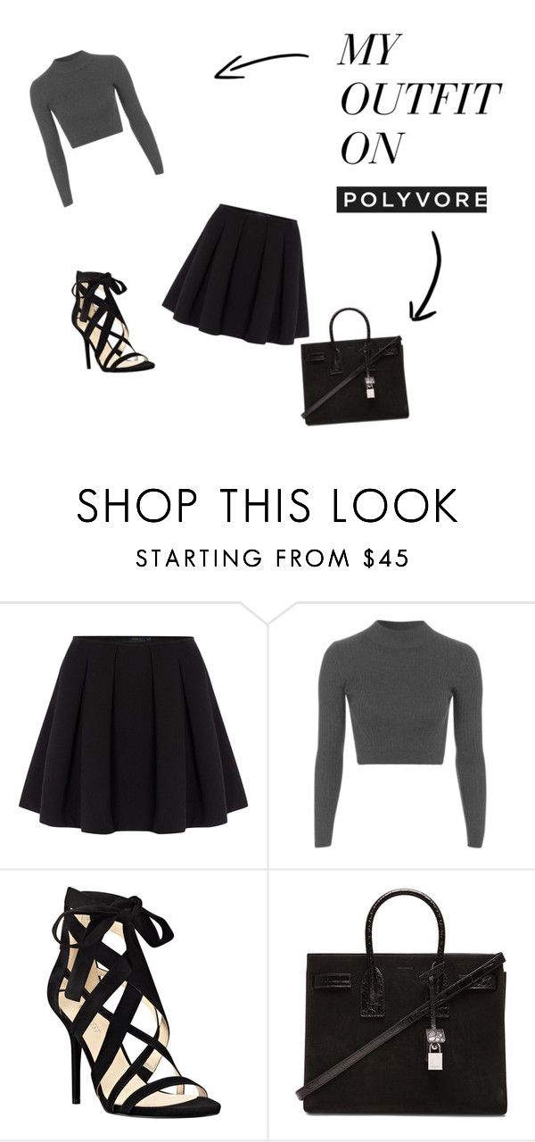 """""""Outfit of the Day"""" by loverofaaliyah ❤ liked on Polyvore featuring Polo Ralph Lauren, Topshop, Nine West and Yves Saint Laurent"""