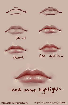 Lips Step By Step By Satazakuro Deviantart Com On Deviantart