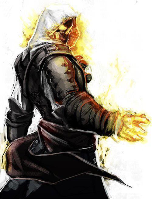 Ghost Rider Assassin Desenho De Personagens Holandes Voador