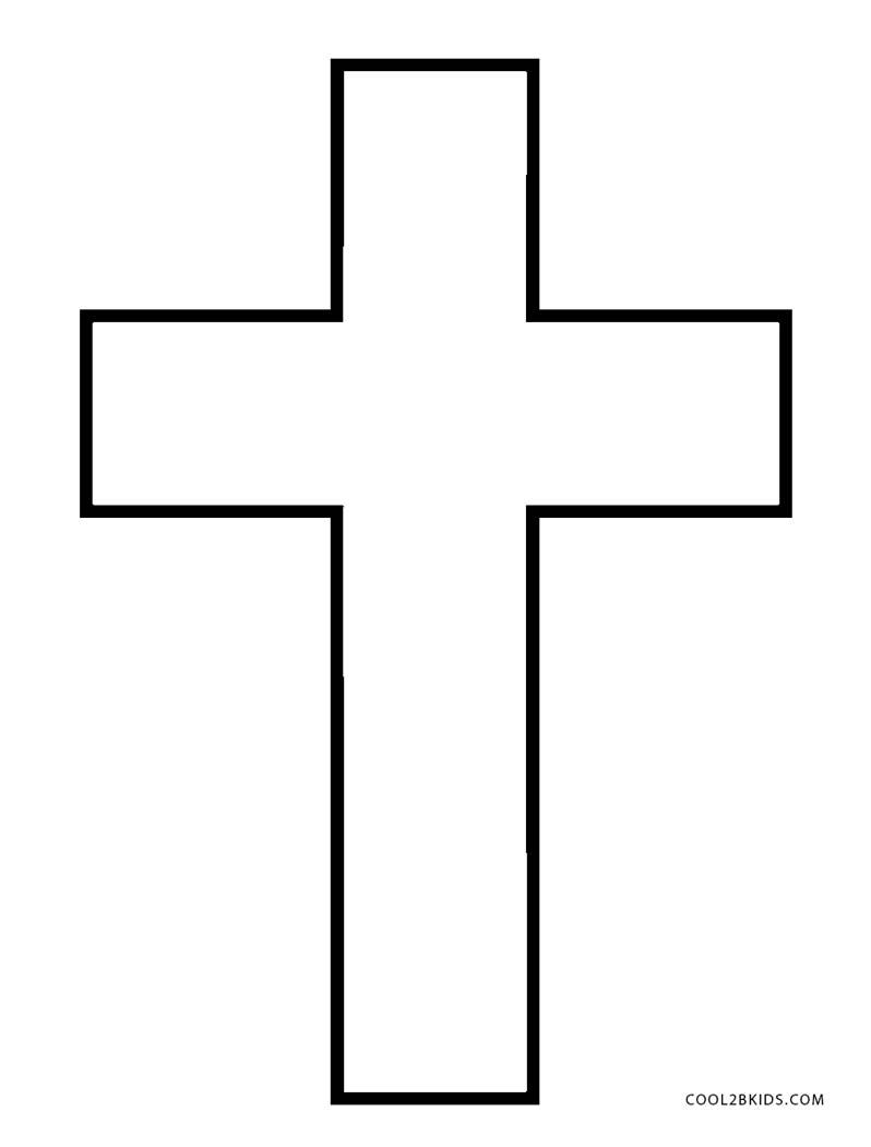 Cross Coloring Pages - GetColoringPages.com | 1050x798