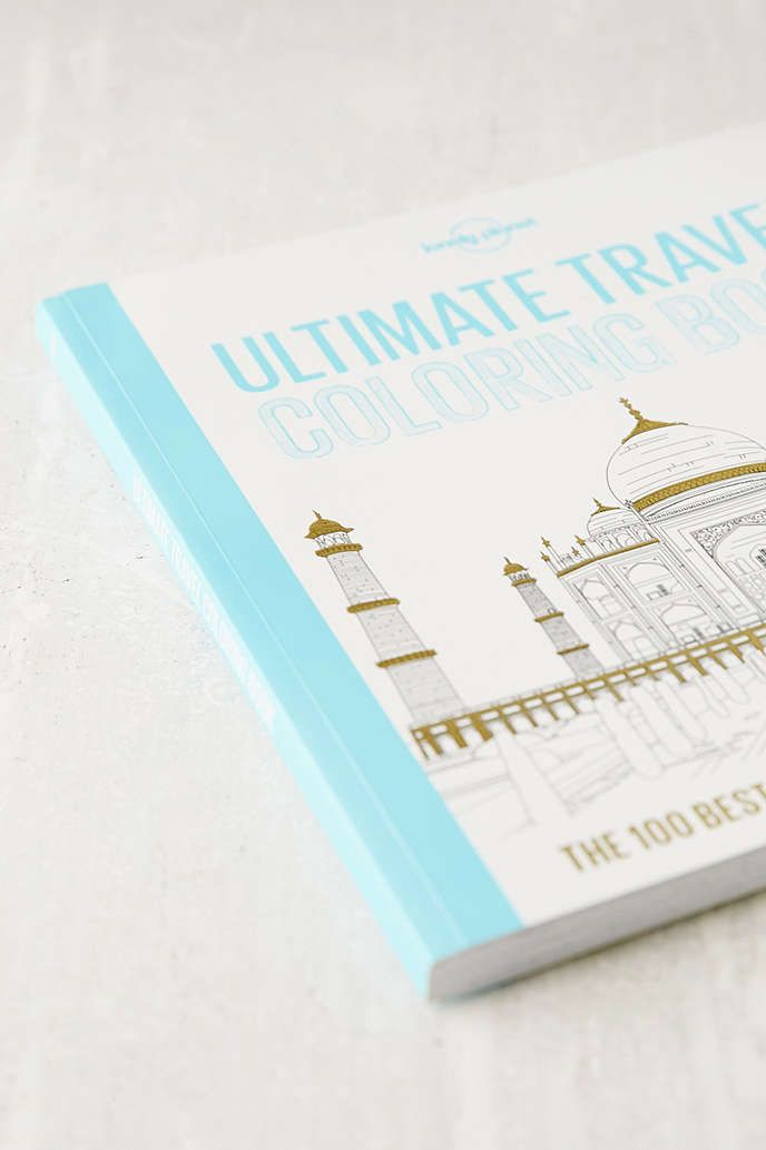 ultimate travel coloring book by lonely planet urban outfitters for the coffee table and - Travel Coloring Book