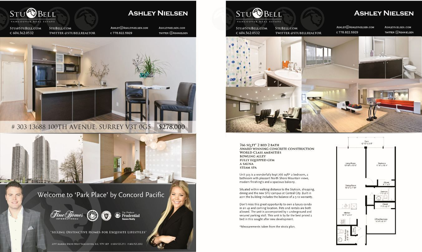 Ashley Nielsen And Stu Bell Real Estate Feature Sheets