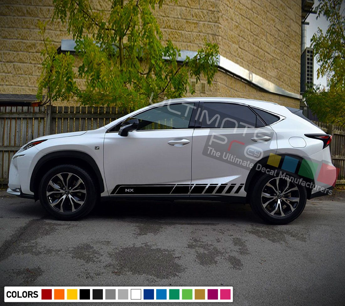 Decal Sticker Vinyl Side Sport Stripes Compatible With Lexus Nx 2017 2018 2019 Turbo Sport Kit Lexus Vinyl Siding Racing Stripes