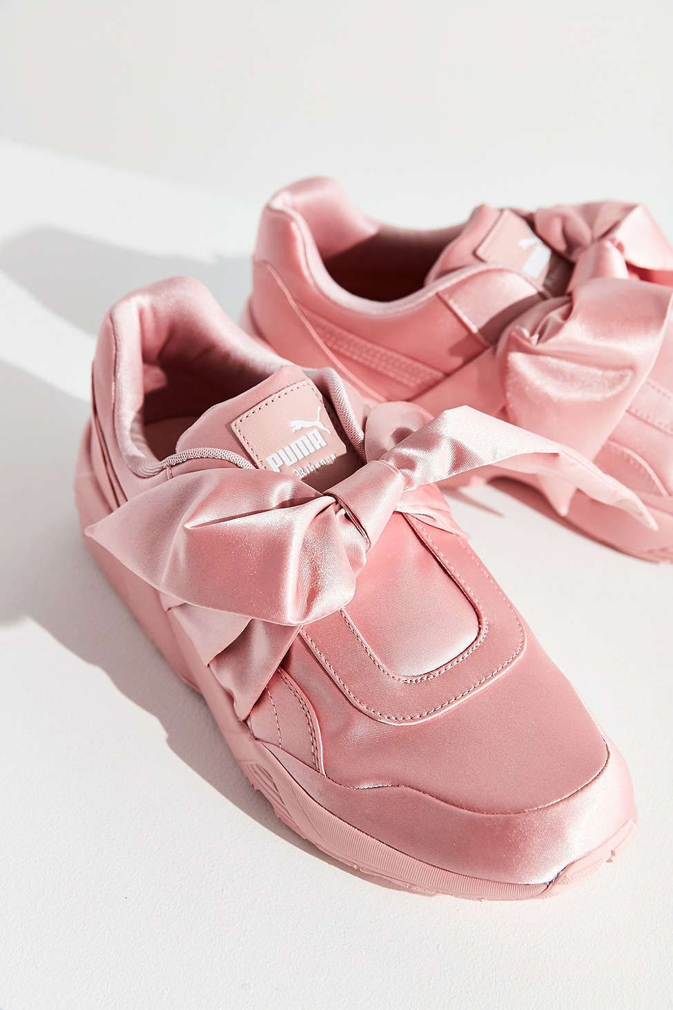 Puma Fenty by Rihanna Satin Bow Sneaker | Bow shoes, Pink ...