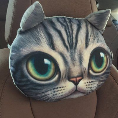 Cat Car Headrest Pillow Wipes Out Odor