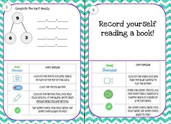 Beginning of the Year Seesaw task cards 2/3 Task cards