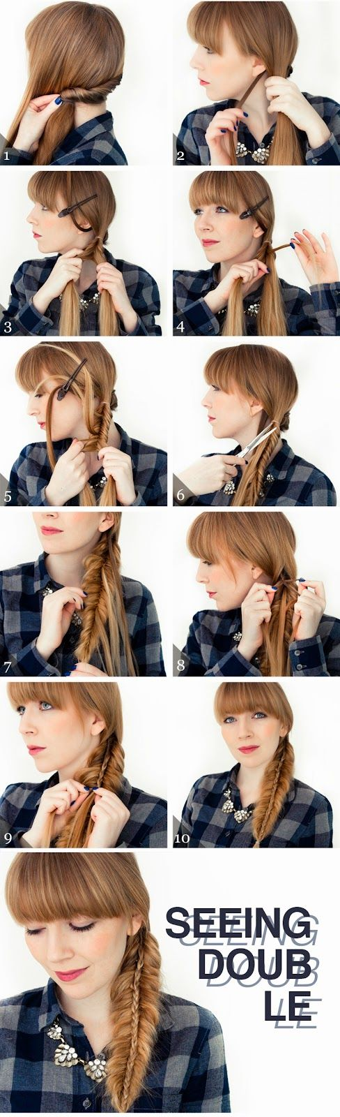 Seeing Double Braid Hairstyle Step By Step Calgary