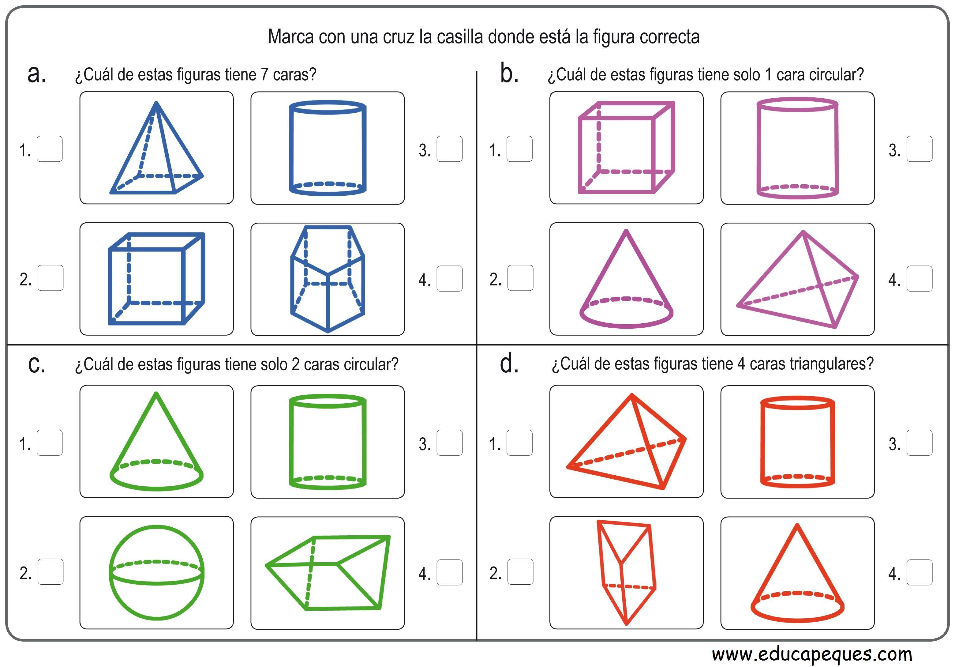 12 Fichas Con Ejercicios Figuras Geométricas Primaria Math