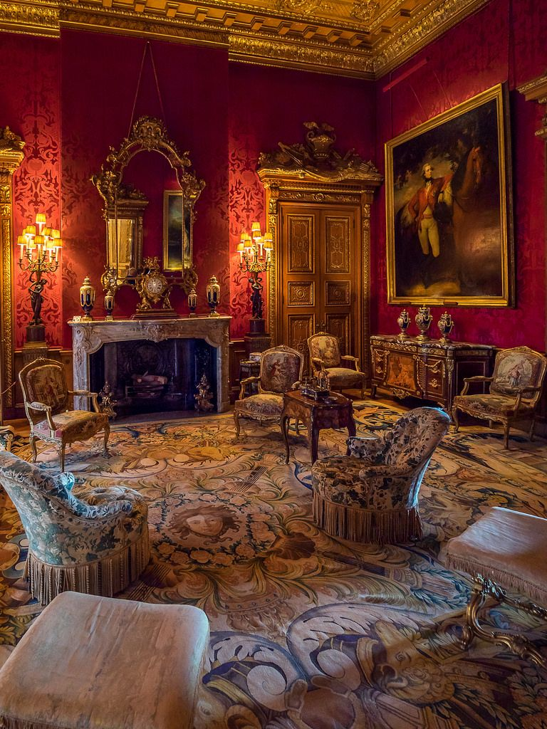 English Country House Drawing Rooms: Waddesdon Manor Sitting Room, Buckinghamshire