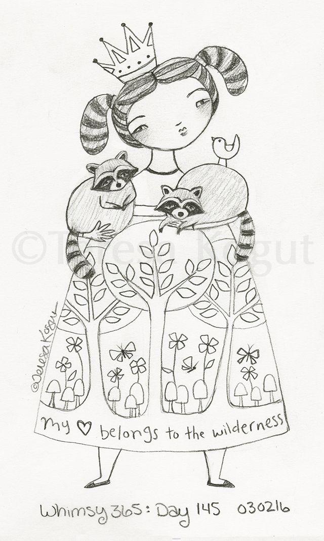 Whimsy 365 day 145 030216 | Fun stuff | Pinterest | Bordado, Dibujos ...