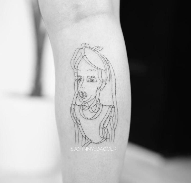Disney Tattoo In 2020 Disney Tattoos Wonderland Tattoo Tattoos