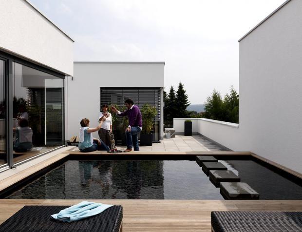 Pflanzkubel Blumenkubel Aus Beton Glasfaser Metall Dachterrasse Wasserbecken Terrasse