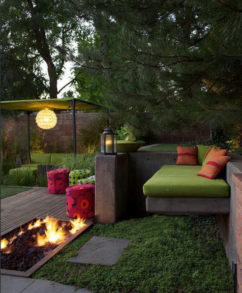 Terrasse mit integrierter Feuerstelle! | Home | Pinterest ...