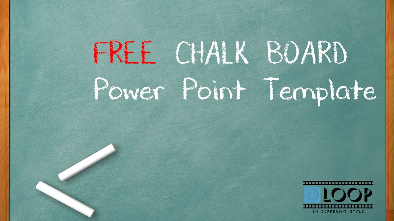 Free Template Power Point Ppt Chalk Board Free Template