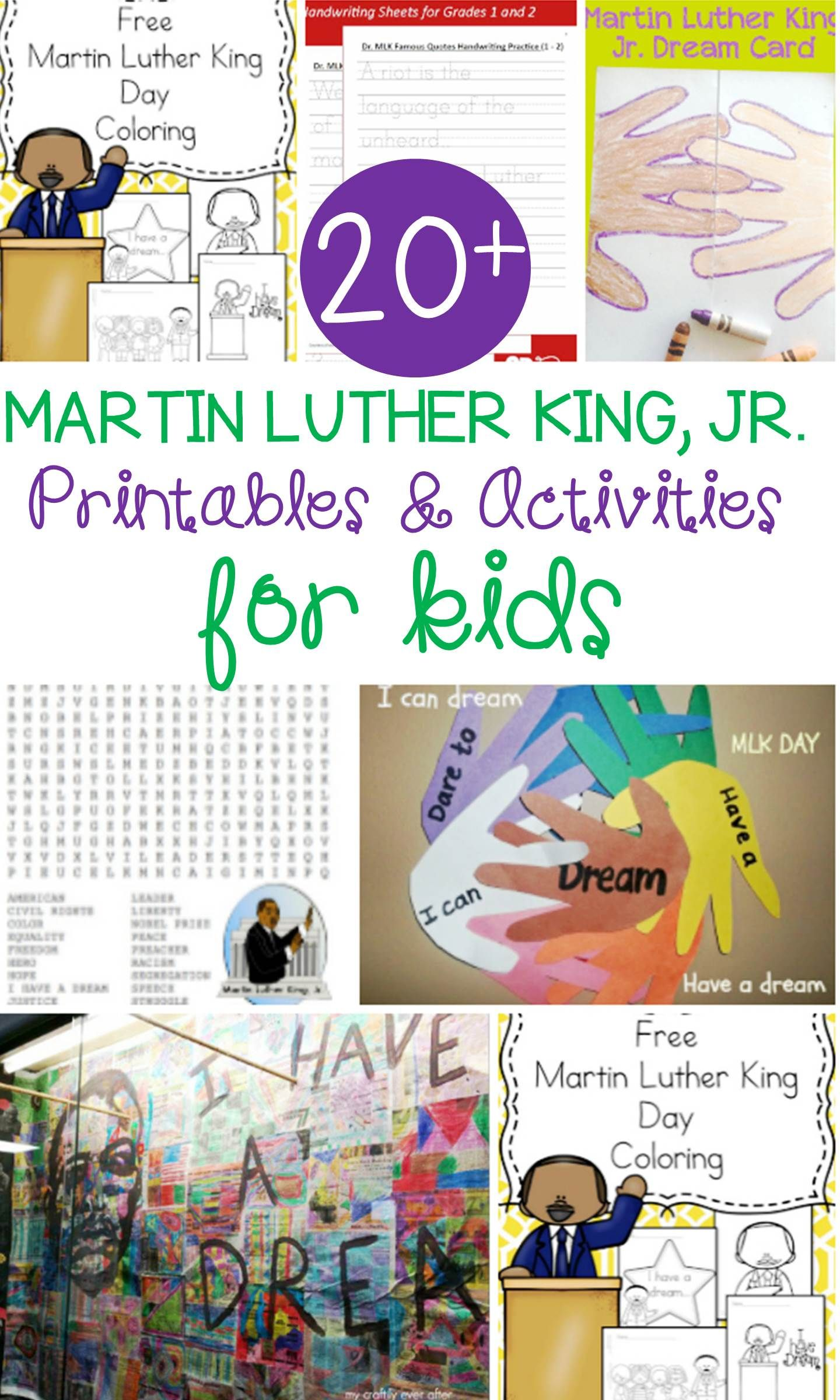Martin Luther King Jr Activities For Kids With Images
