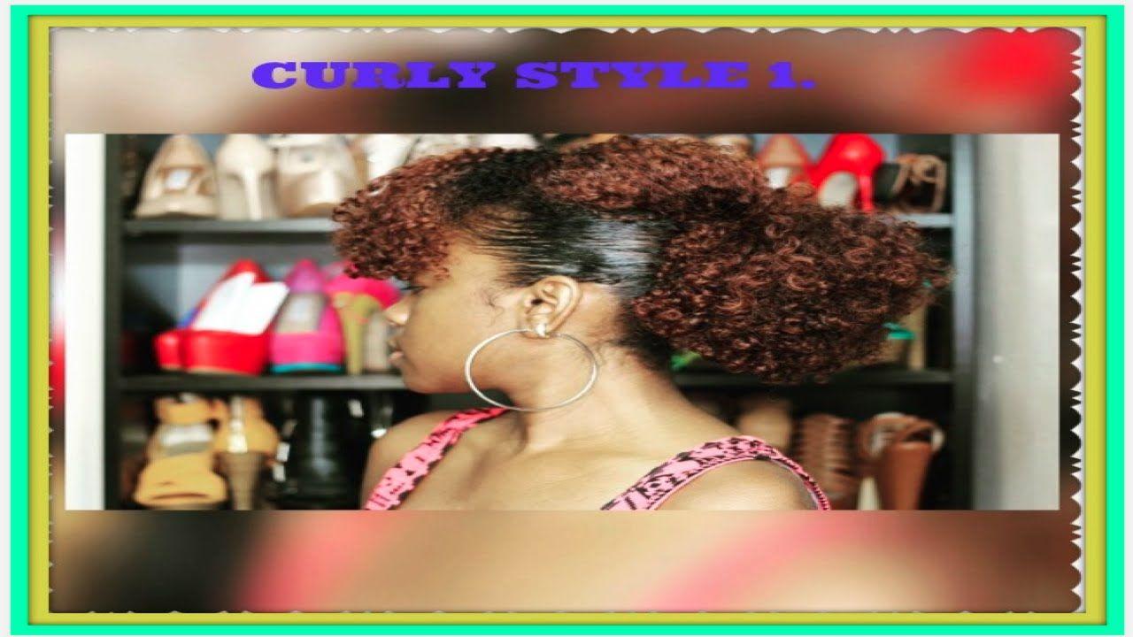 Hair tutorial curly style 1 old wash n go hair