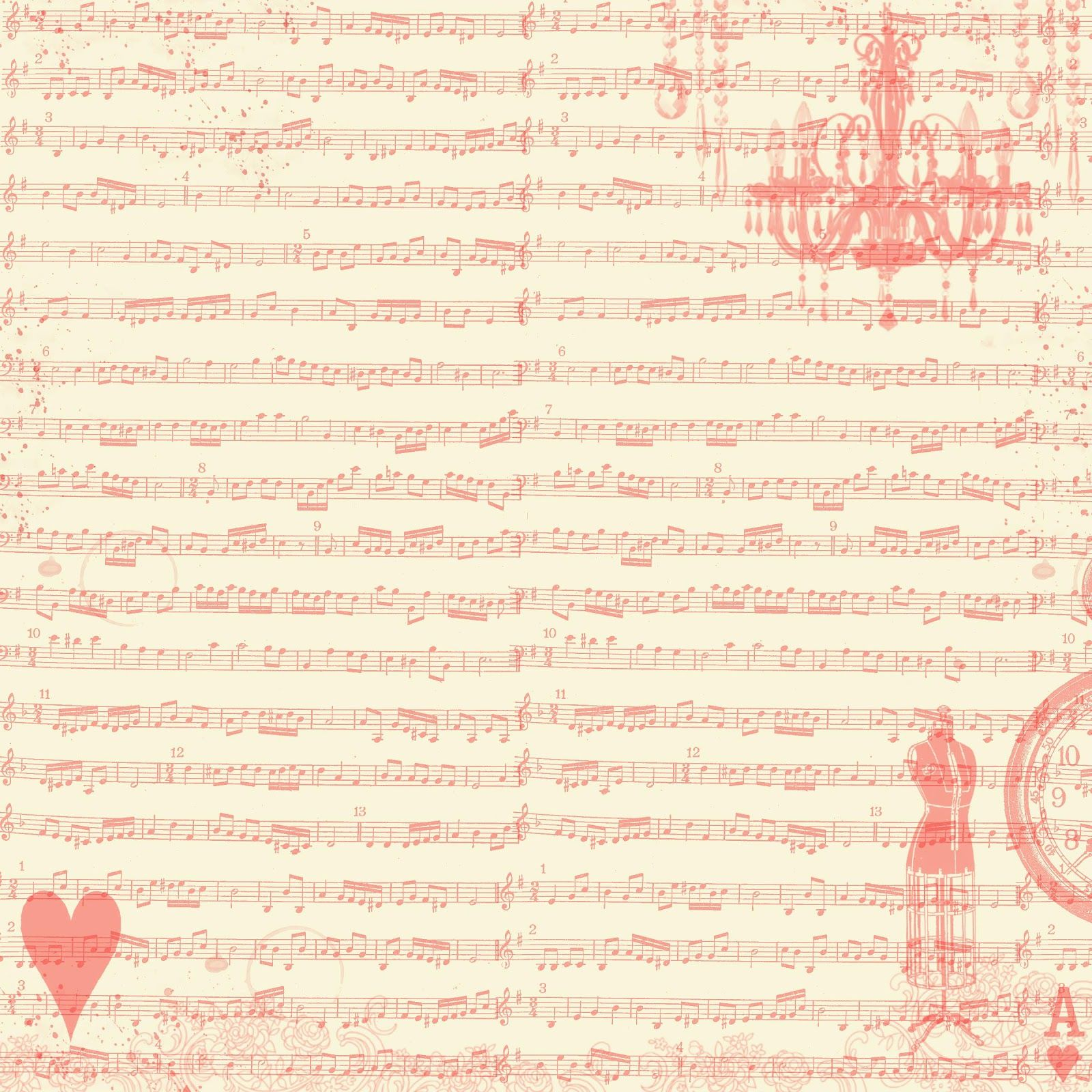 **FREE ViNTaGE DiGiTaL STaMPS**: Free Digital Scrapbook Paper - Sheet Music Collage