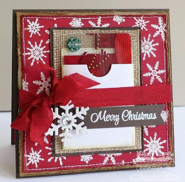 A Paper Melody Handmade Cards Gift Card Holder Christmas