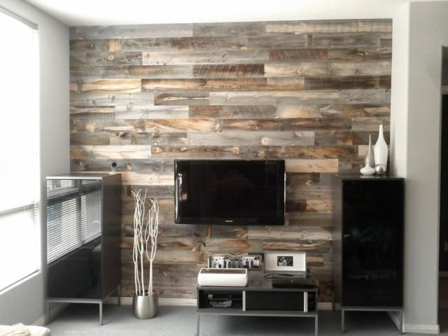 Here S One Alternative To Boring Drywall Wood Wall Paneling L And Stick Reclaimed Strips Nbsp Novelty Or Stay