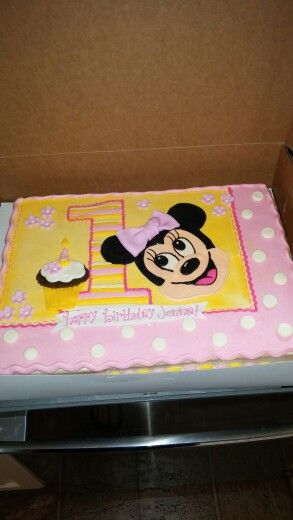 Minnie mouse first birthday cake by Cake Art of Dublin GA