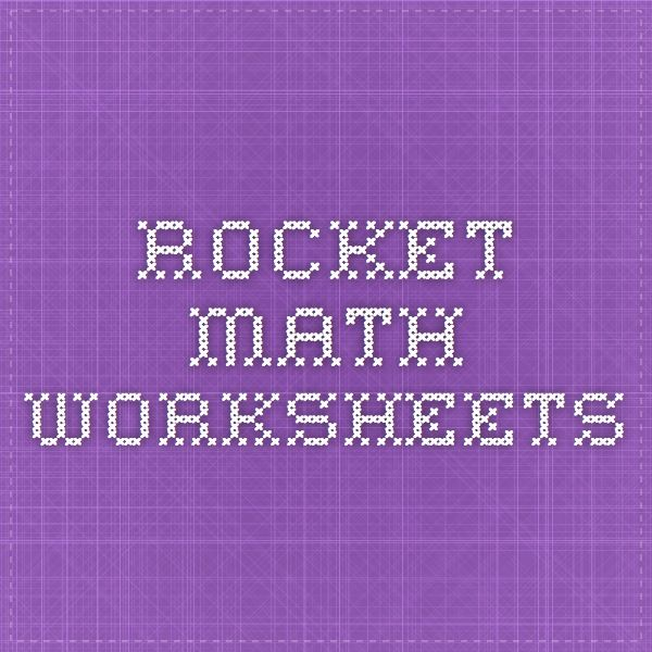 Where can Rocket Math worksheets be obtained?