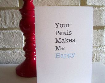 adult greeting card your blank makes me happy for him relationship anniversary naughty valentinesvalentine - Naughty Valentines Gifts