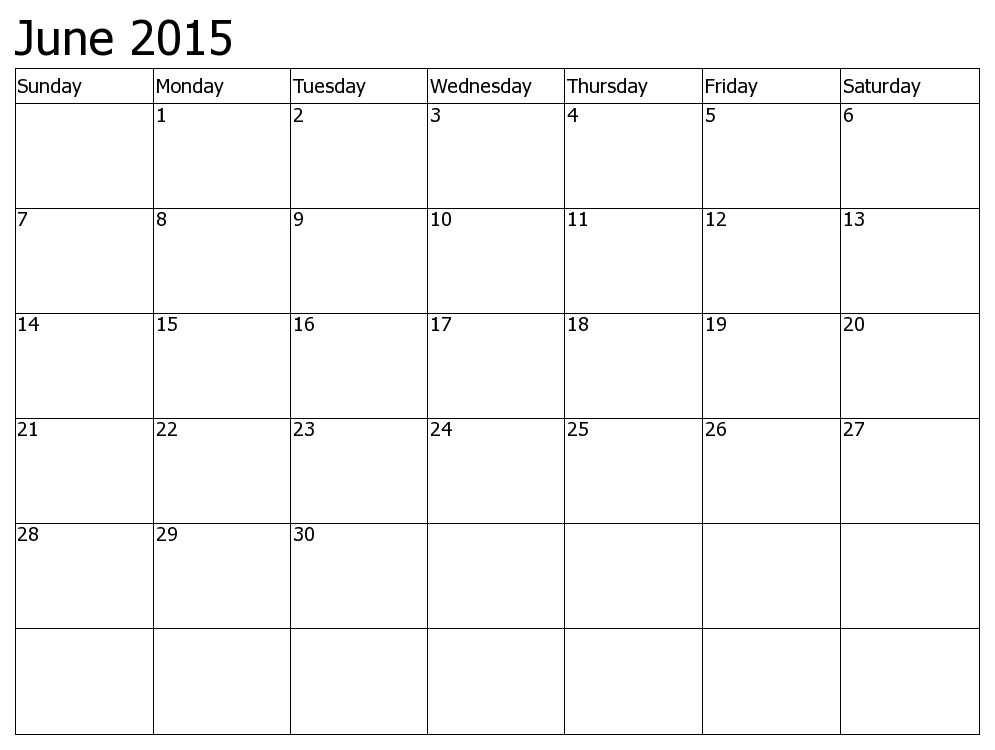 Check Out Blank June  Calendar Printable Template Word Excel