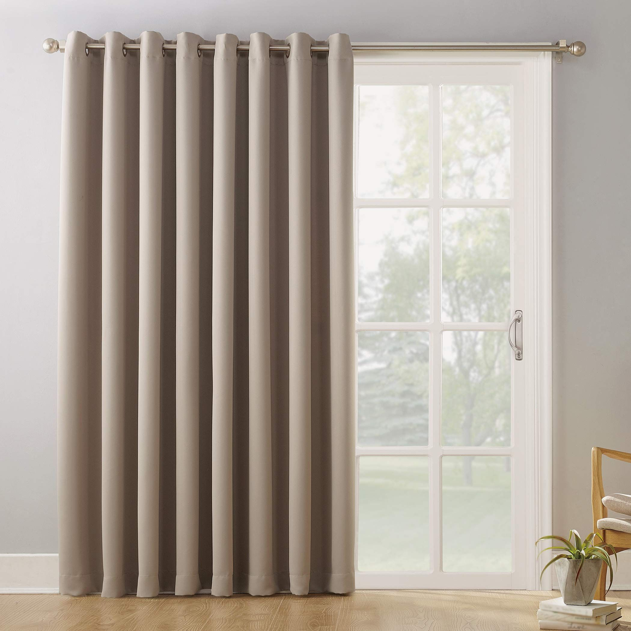 Joy2016 Blackout Curtains For Patio Sliding Door Extra Wide Draperies For Double Window Thermal Insulated Energy Effi In 2020 Curtains Curtains Dunelm Patio Curtains