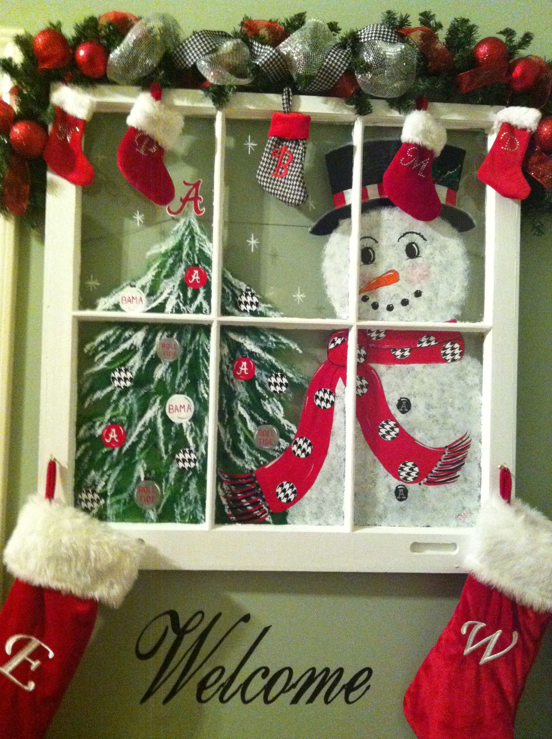 Holiday Window Decorating Ideas Part - 48: A Way To Customize A Window For The Holidays --a Valance Of Cmas Stockings