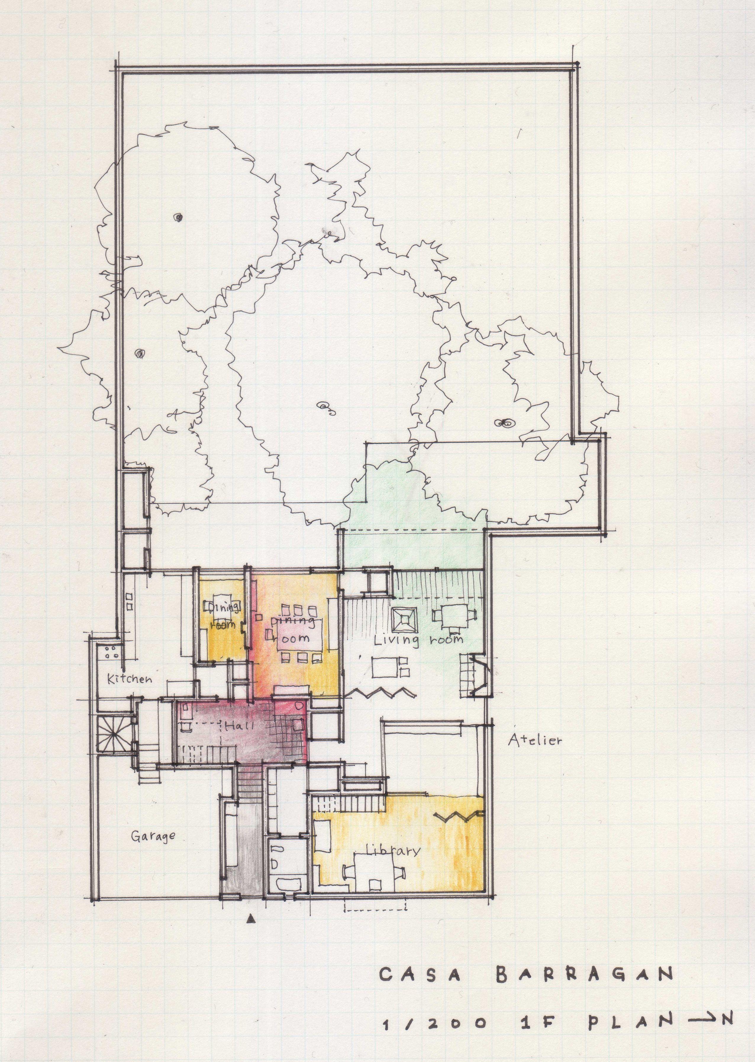 Casa Barragan Plan