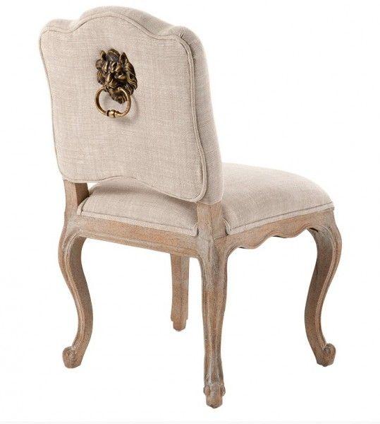 Charming Barock Esszimmer Stuhl #6: Casa Padrino Luxus Barock Esszimmer Stuhl Lion Naturale Leinen - Möbel  Restaurant Hotel Stühle Esszimmerstühle Ohne