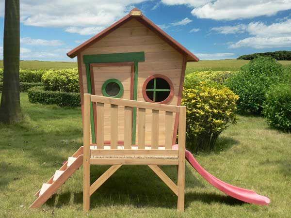Casas De Juegos Para Niños En Madera Casa madera juegos niños jardin ...