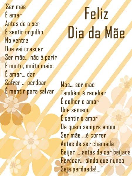 Poema Para O Dia Das Maes Lindo Poema Mae Poema Das Maes