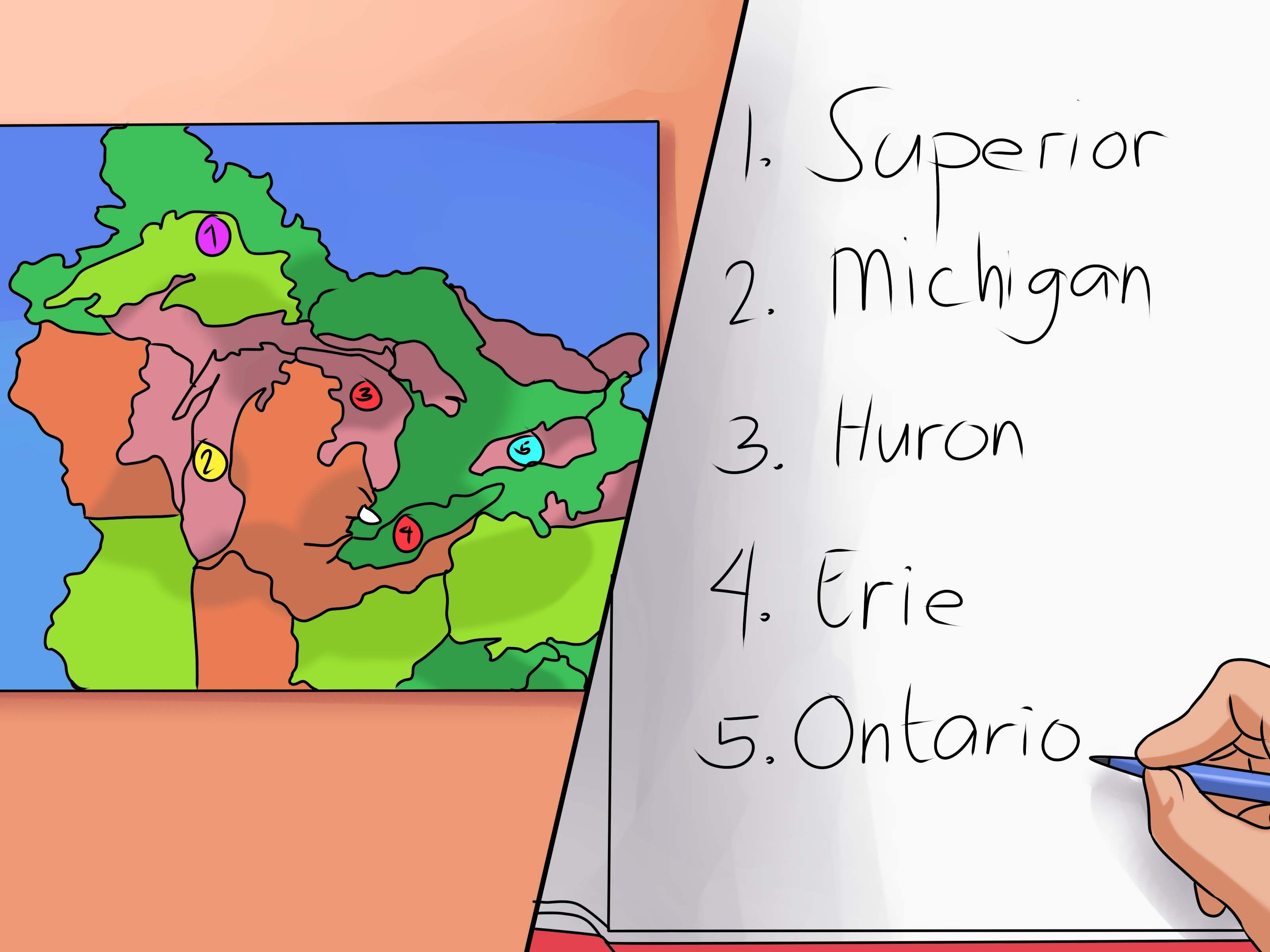 Remember The Five Great Lakes