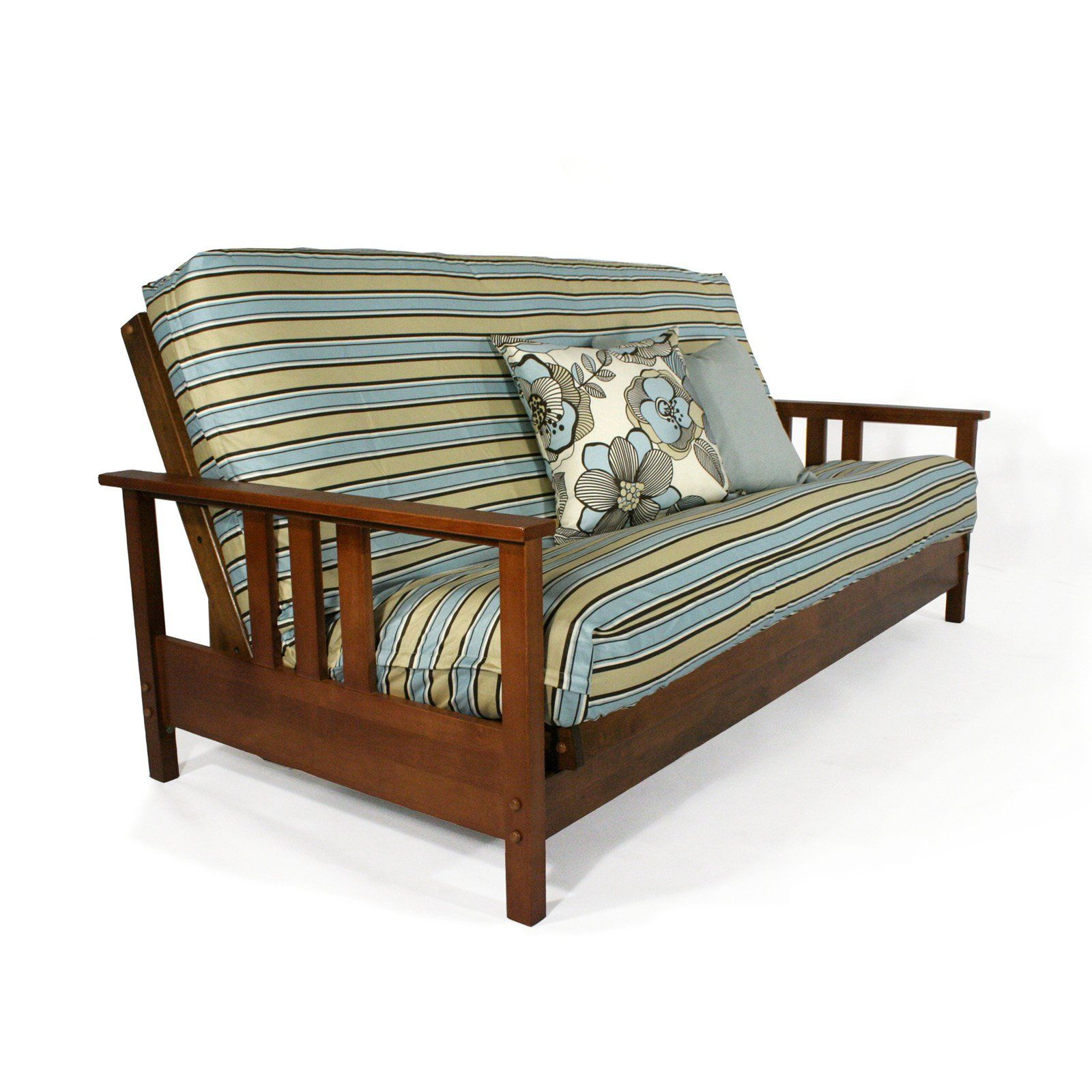 Strata Durango Wall Hugger Futon Frame Warm Cherry While The
