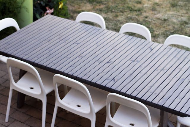 New Outdoor Dining Table