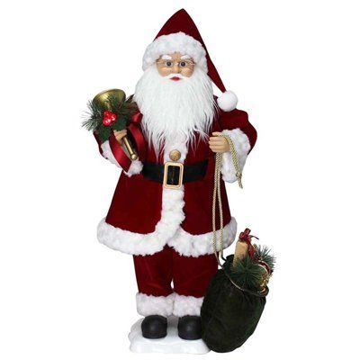 holiday living animated musical santa indoor christmas decoration animated christmas decorations statue musicals - Musical Animated Christmas Decorations