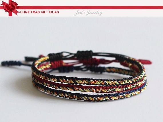 974943ca8ef4f Original SPECIAL Multi Color Tibetan Buddhism Handmade Knot Lucky Rope  Bracelet Red Yellow and Multi