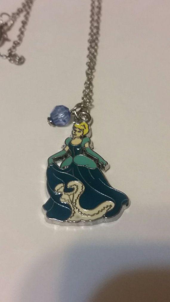 Disney Cinderella Princess  Necklace by lunasuniquegifts on Etsy