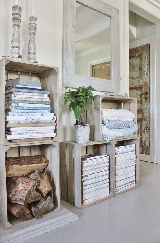 diy fabriquer des meubles avec des caisses en bois deco pinterest caisses en bois. Black Bedroom Furniture Sets. Home Design Ideas