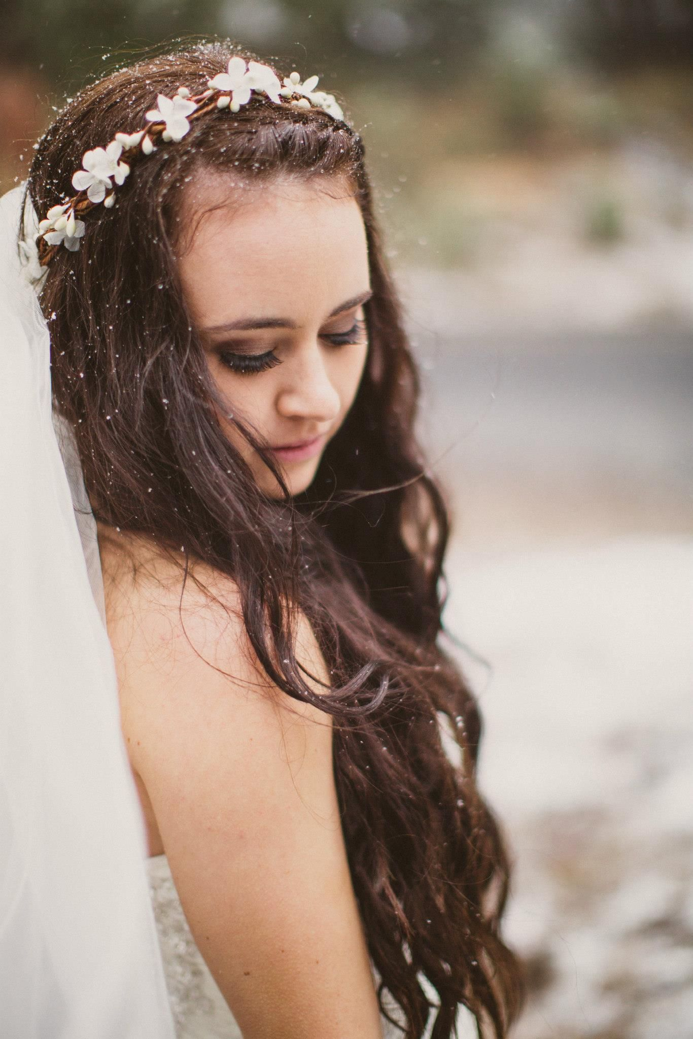 Bridal flower headband crown troue pinterest bridal flowers bridal flower headband crown izmirmasajfo Gallery