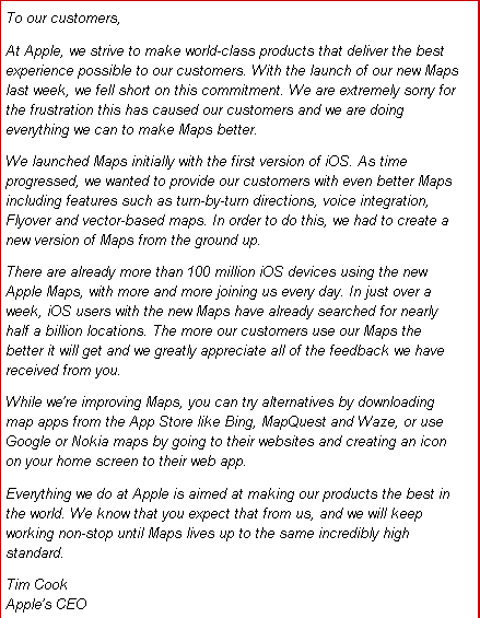 Apple CEO Tim Cook has written an open letter on Apple s website
