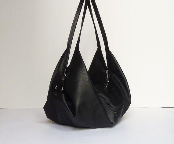 Black Leather Bag Soft