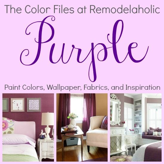Best colors for your home - Purple! /Remodelaholic/ .com | Home ...