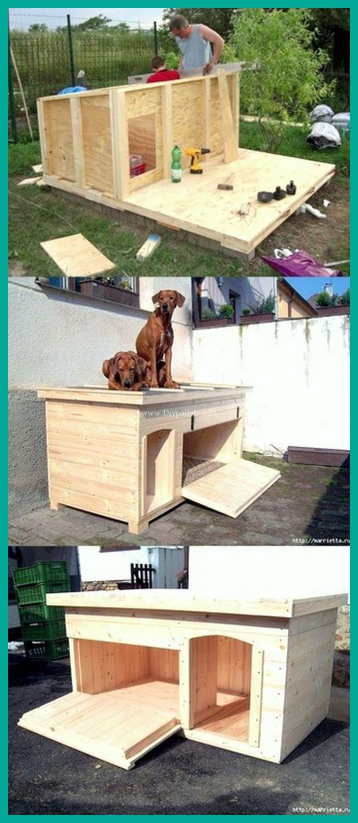 Wooden Dog Kennel Furniture Built By You Diy Dog House Insulated Big Dog House Plans Di Diy Dog Kennel Pallet Dog House Dog House Diy
