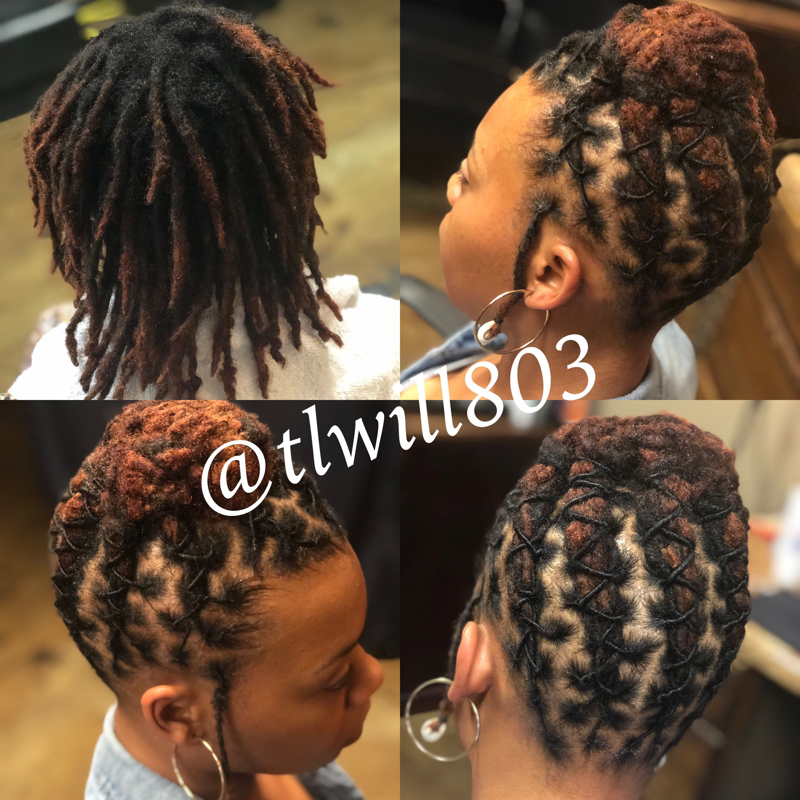 Pin By Tl Will On Loc Styles By Tlwill Short Dreadlocks Styles Short Locs Hairstyles Dreads Styles For Women